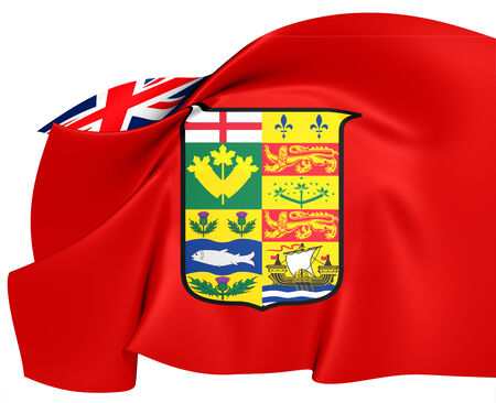 ensign: Canadian Red Ensign (1868-1921). Close Up.    Stock Photo