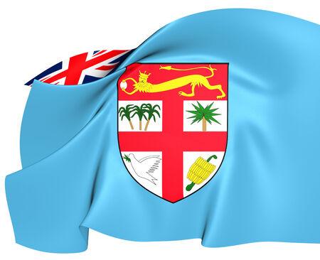 fiji: Flag of Fiji. Close Up.