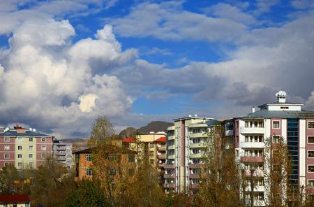 Apartment Buildings in Van, Turkey on Autumn. Stock Photo - 26008123
