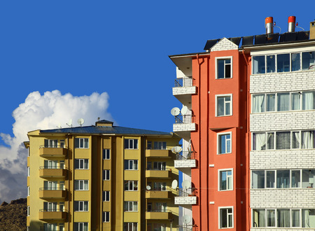 Two Apartment Buildings Stock Photo - 26008180