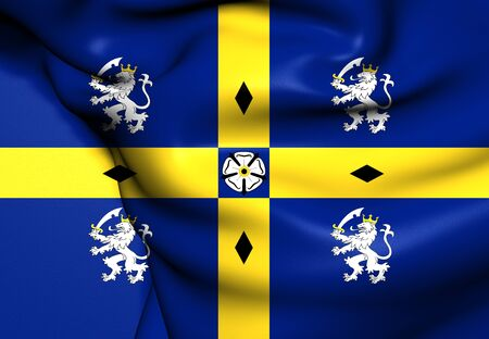 the council: Flag of Durham County Council. Close Up.    Stock Photo