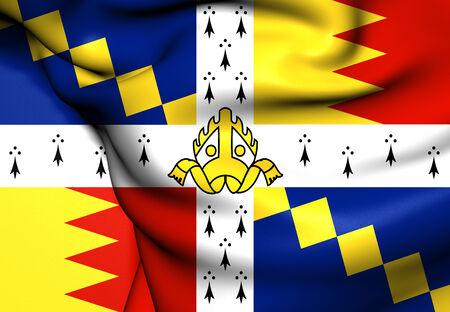 midlands: Flag of Birmingham, England. Close Up.    Stock Photo