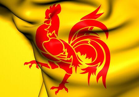 wallonie: Flag of Wallonia. Close Up.    Stock Photo