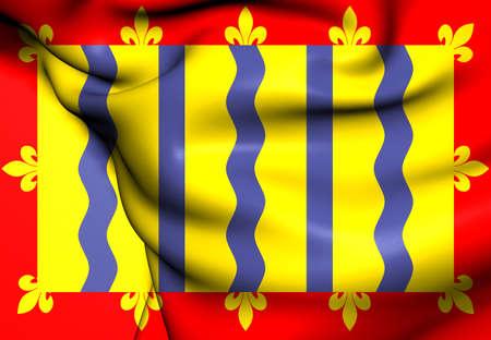 cambridgeshire: Flag of Cambridgeshire, England. Close Up.