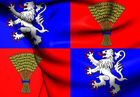 gascony: Flag of Gascony, France. Close Up.
