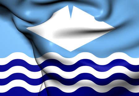 Isle of Wight Flag, England. Close Up.   photo