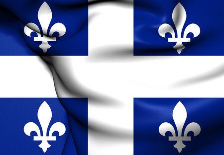 belle: Flag of Quebec Province, Canada. Close Up.