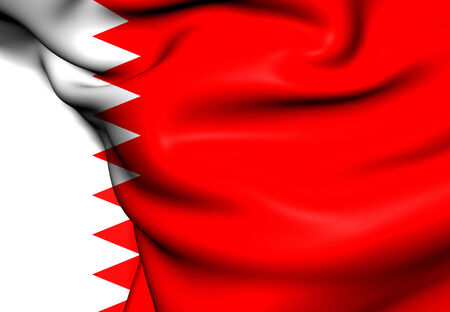 Flag of Bahrain. Close Up.   photo