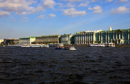 saint petersburg: Neva River, Saint Petersburg, Russia.