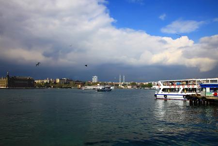 bogazici: View of the Kadikoy, Istanbul. Day.