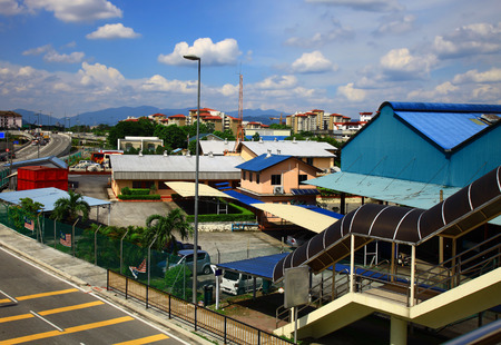 chan: Residential District in Kuala Lumpur, Chan Sow Lin Station. Day.
