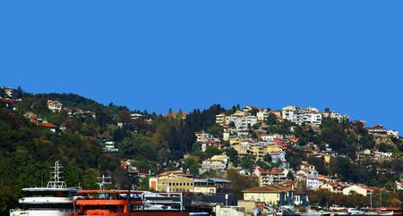 bogazici: View of the Besiktas, Istanbul. Day.