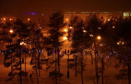kirov: View of the Kirov Square, Irkutsk, Russia.