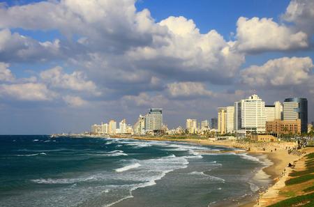 View of the Tel Aviv, Israel. Day. Stok Fotoğraf