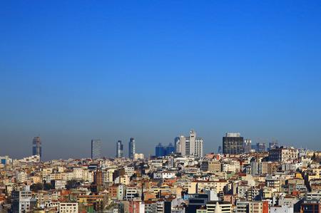 turkey day: View to Beyoglu, Istanbul. Turkey.