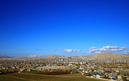 lake dwelling: Panoramic View of the Van, Turkey.
