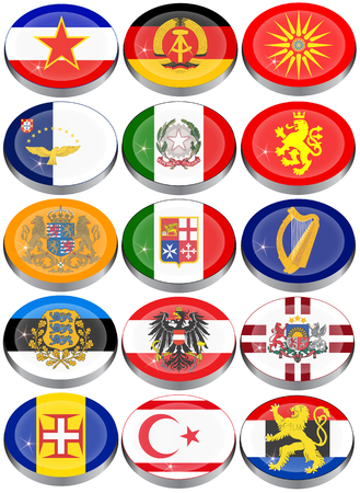 ddr: Set of icons. Flags of the Europe.