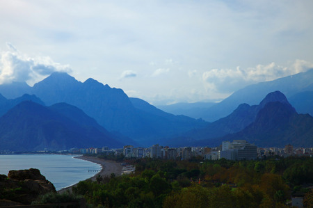 View of the Konyaalti, Antalya. Morning.