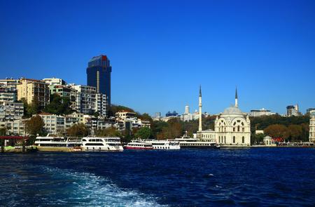 Panorama of the Kabatas (Beyoglu district), Istanbul. Turkey. Stok Fotoğraf