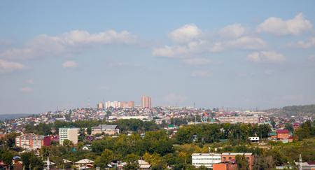 Panoramic view of the Irkutsk, Russia.