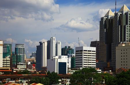 Panorama of the Chow Kit in Kuala Lumpur, Malaysia.