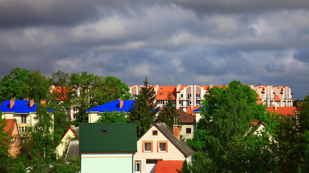 Residential buildings in the Kaliningrad (Leningrad District), Russia.