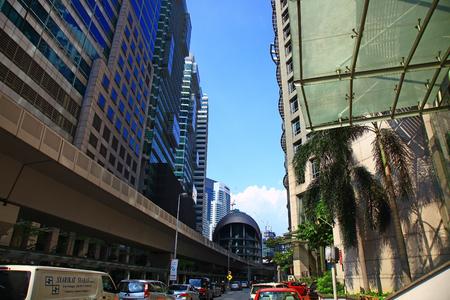 KUALA LUMPUR, MALAYSIA - 25 SEPTEMBER, 2013: View of the Kuala Lumpur Sentral railway station. Editöryel