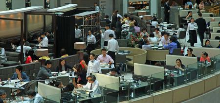 HONG KONG - 02 SEPTEMBER, 2014: View of the Restaurant. Editöryel