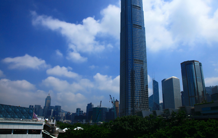 View of the Central District, Hong Kong. Day.