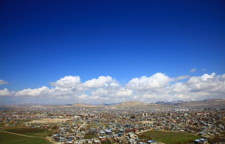 Panoramic View of the Van, Turkey. Spring. Stok Fotoğraf