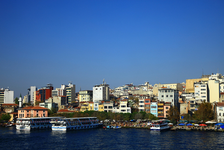 ISTANBUL, TURKEY - 29 OCTOBER, 2013: View of the Golden Horn, Istanbul. Turkey.