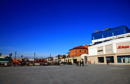 IRKUTSK, RUSSIA - 01 NOVEMBER, 2014: Panorama of the Irkutsk Sloboda (130 Quarter). Editöryel