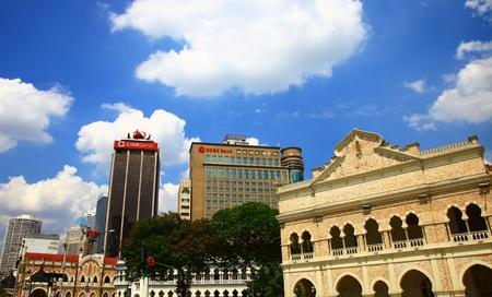 KUALA LUMPUR, MALAYSIA - 06 OCTOBER, 2013: View of the Jalan Raja and Sultan Abdul Samad building in Kuala Lumpur. Editöryel