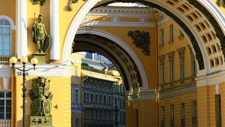 Part of the Arch, Palace Square, Saint Petersburg, Russia.