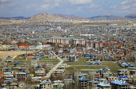 Panorama of the Van, Turkey. Spring.