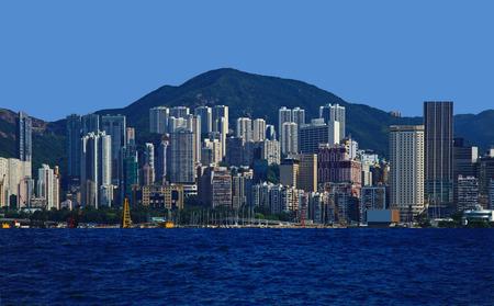 Panorama of the Sheung Wan, Hong Kong. Stok Fotoğraf