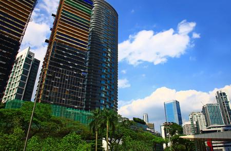 View of the Kuala Lumpur City Centre, Malaysia. Day. Stok Fotoğraf