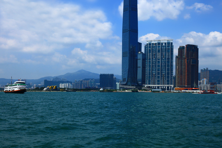 View of the Kowloon, Hong Kong. Day. Stok Fotoğraf