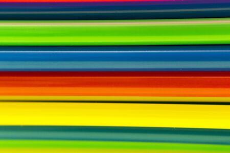 Kleurrijke rietjes gestapeld