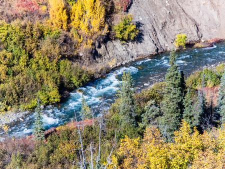Roiling whitewater in a small stream in interior Alaska Standard-Bild