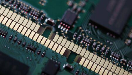 dimm: Memory modules DIMM SDRAM close-up