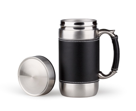 Stainless steel vacuum travel mug photo