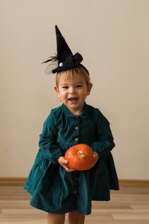 Trick or Treat adorable children dressed up for Halloween
