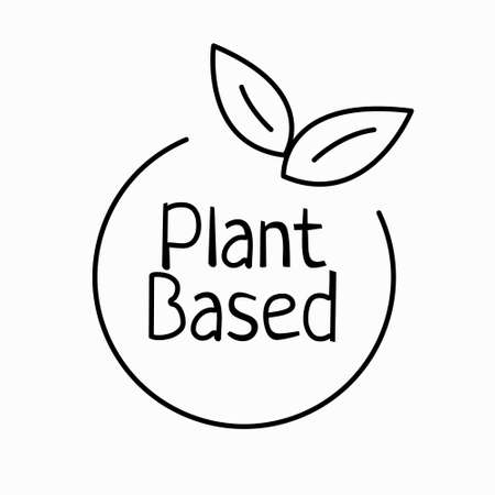 Plant based outline icon. Vegan food. Ecology friendly food. Ilustração