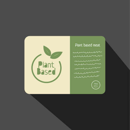 Plant based flat style hand drawn icon. Vegan food. Ecology friendly food. Ilustração