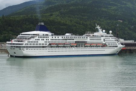 Cruise Ship at port photo