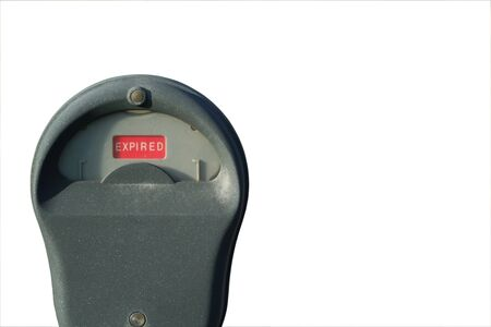 Isolated expired parking meter