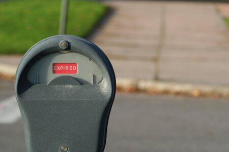 Verstreken parkeren meter Stockfoto