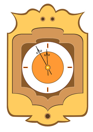 midnight hour: Clock showing time about twelve. Vector illustration