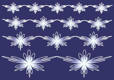 outlook: Pattern on navy blue. Vector illustration